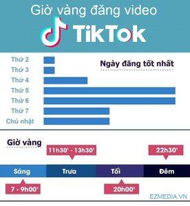 Đăng video Tik tok vào khung giờ vàng kiếm được nhiều view và tym.