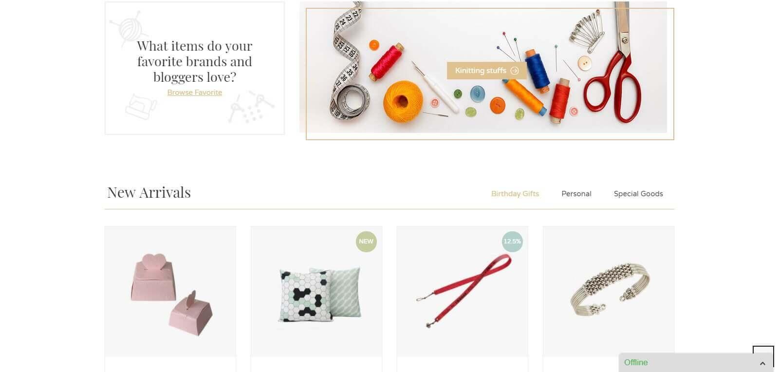 Mẫu website bán hàng handmade | Thiết kế website bán hàng handmade