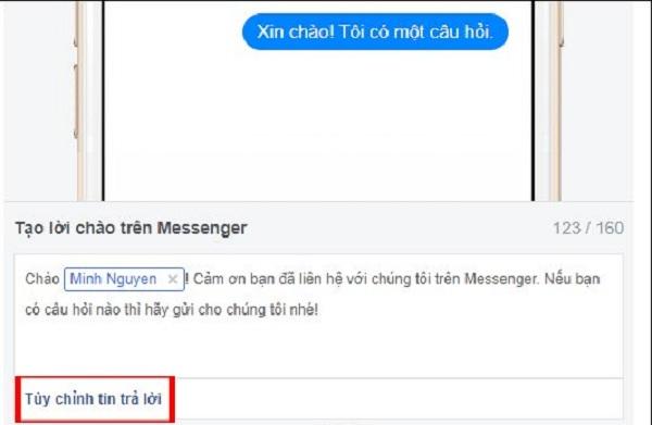 Huong dan thiet lap tu dong tra loi tin nhan tren fanpage facebook 01