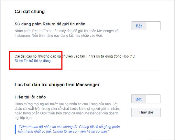 Huong dan thiet lap tu dong tra loi tin nhan tren fanpage facebook 03