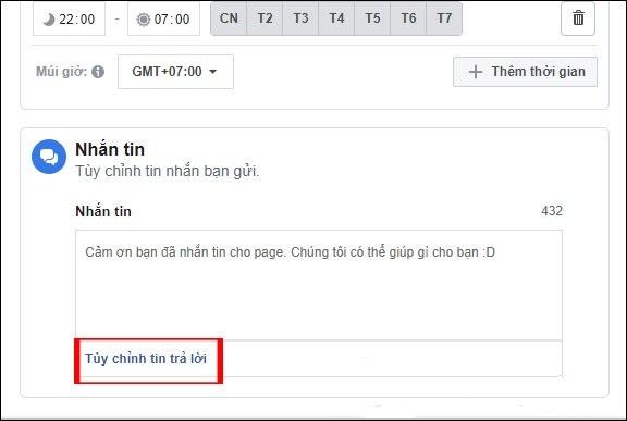 Huong dan thiet lap tu dong tra loi tin nhan tren fanpage facebook 05