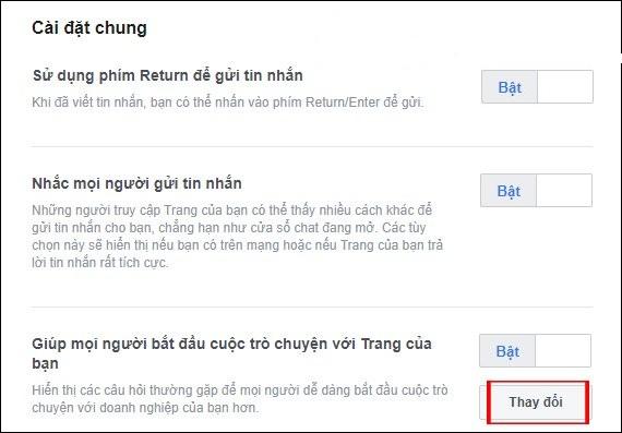 Huong dan thiet lap tu dong tra loi tin nhan tren fanpage facebook 3