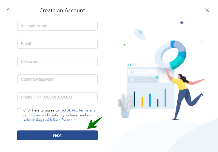 create account tiktok 2