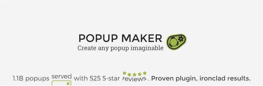 plugin popup WordPress popup maker