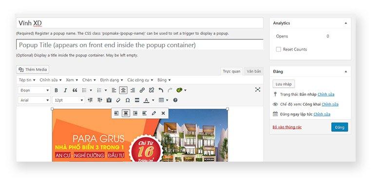Hướng Dẫn Tạo Popup Cho Website WordPress 9