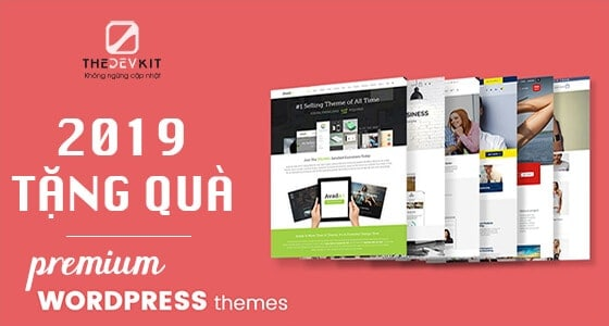 Event tặng Premium WordPress Theme