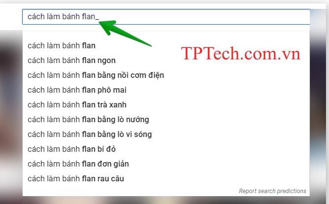 Tìm từ khóa dựa vào đề xuất Google search